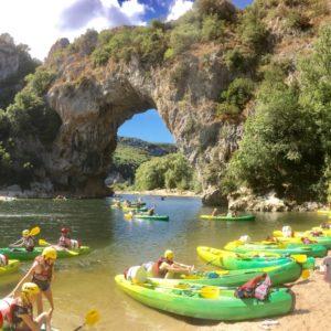 Canoe sur l'Ardèche