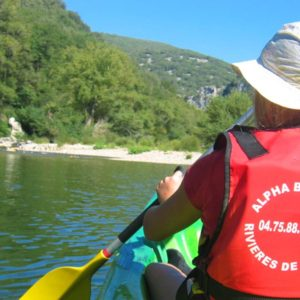 Balade 40km en canoe sur l'Ardeche